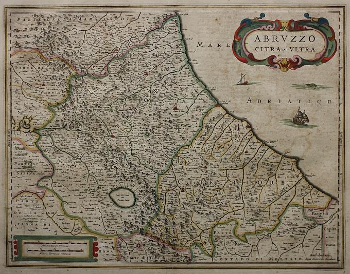 Cartina Dettagliata Abruzzo.Abruzzo Citra Et Ultra Idea Rare Maps