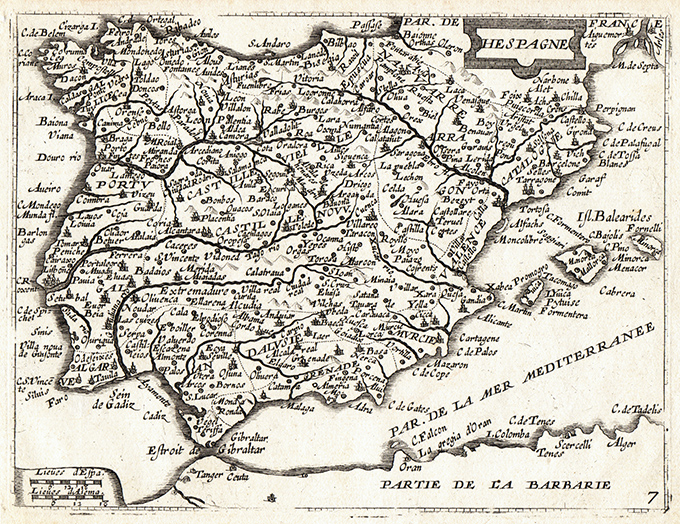 Cartina Spagna Antica.Hespagne Idea Rare Maps