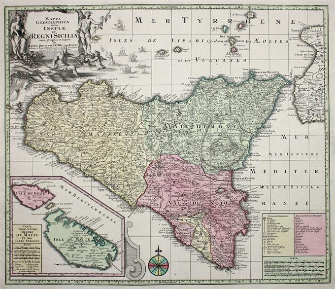 Cartina Sicilia Grande.Mappa Geographica Totius Siciliae Idea Rare Maps