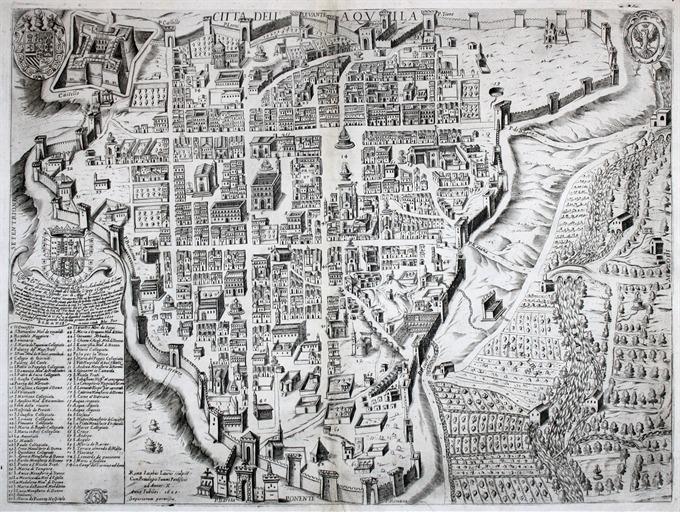 Citta' dell' Aquila - Idea Rare Maps