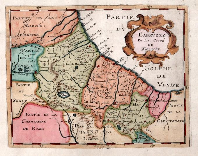 Cartina Stradale Abruzzo Molise.L Abruzzo Et Le Conte De Molisse Idea Rare Maps