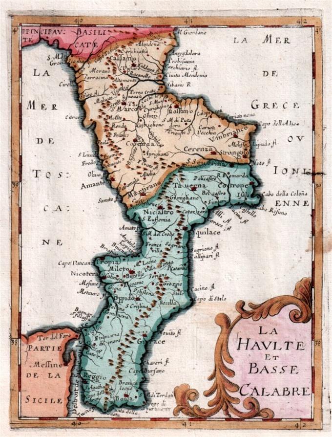 Cartina Geografica Calabria.Calabria Archivi Idea Rare Maps
