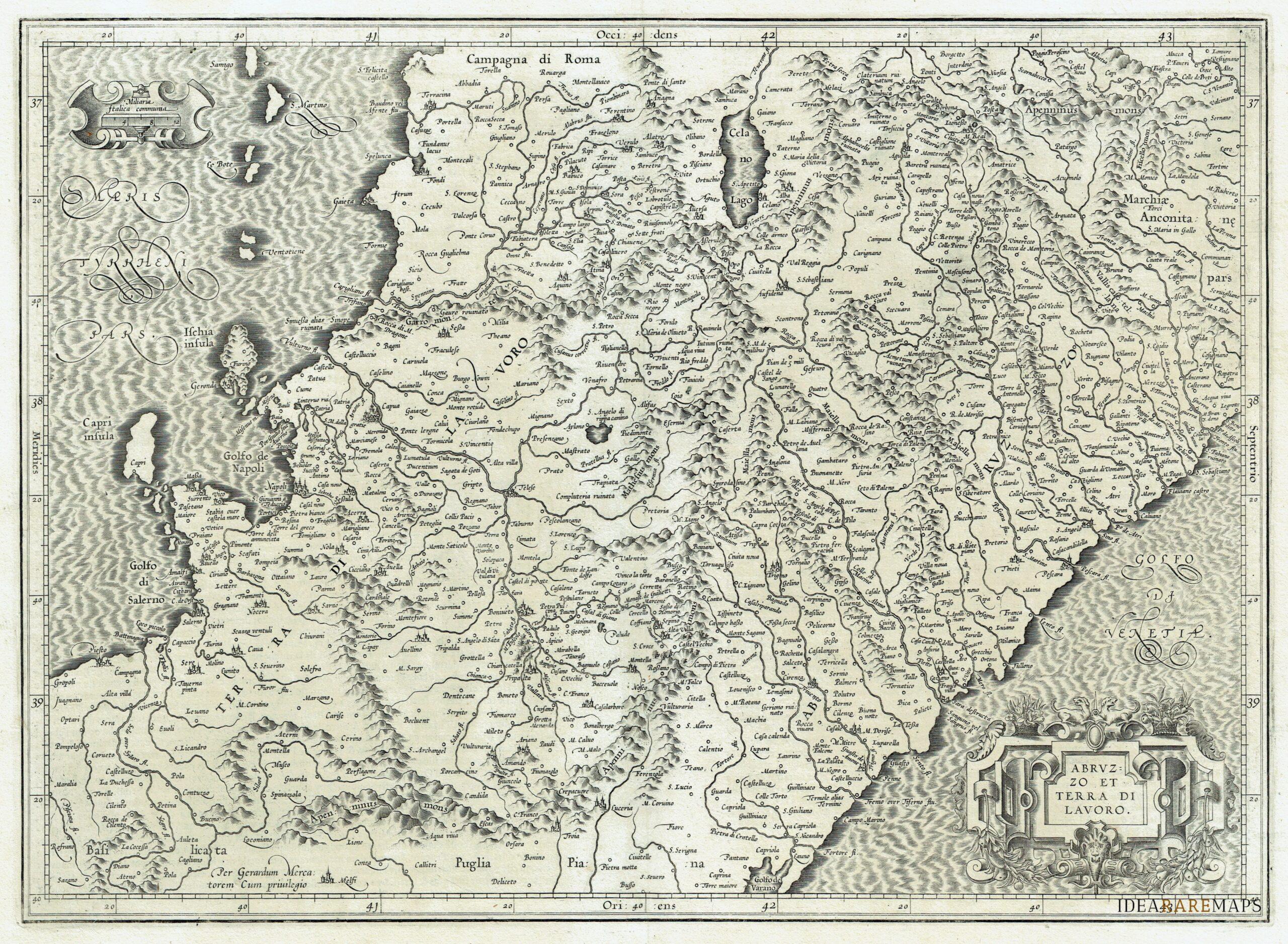 Molise Cartina Geografica Dettagliata.Abruzzo Molise Archivi Idea Rare Maps