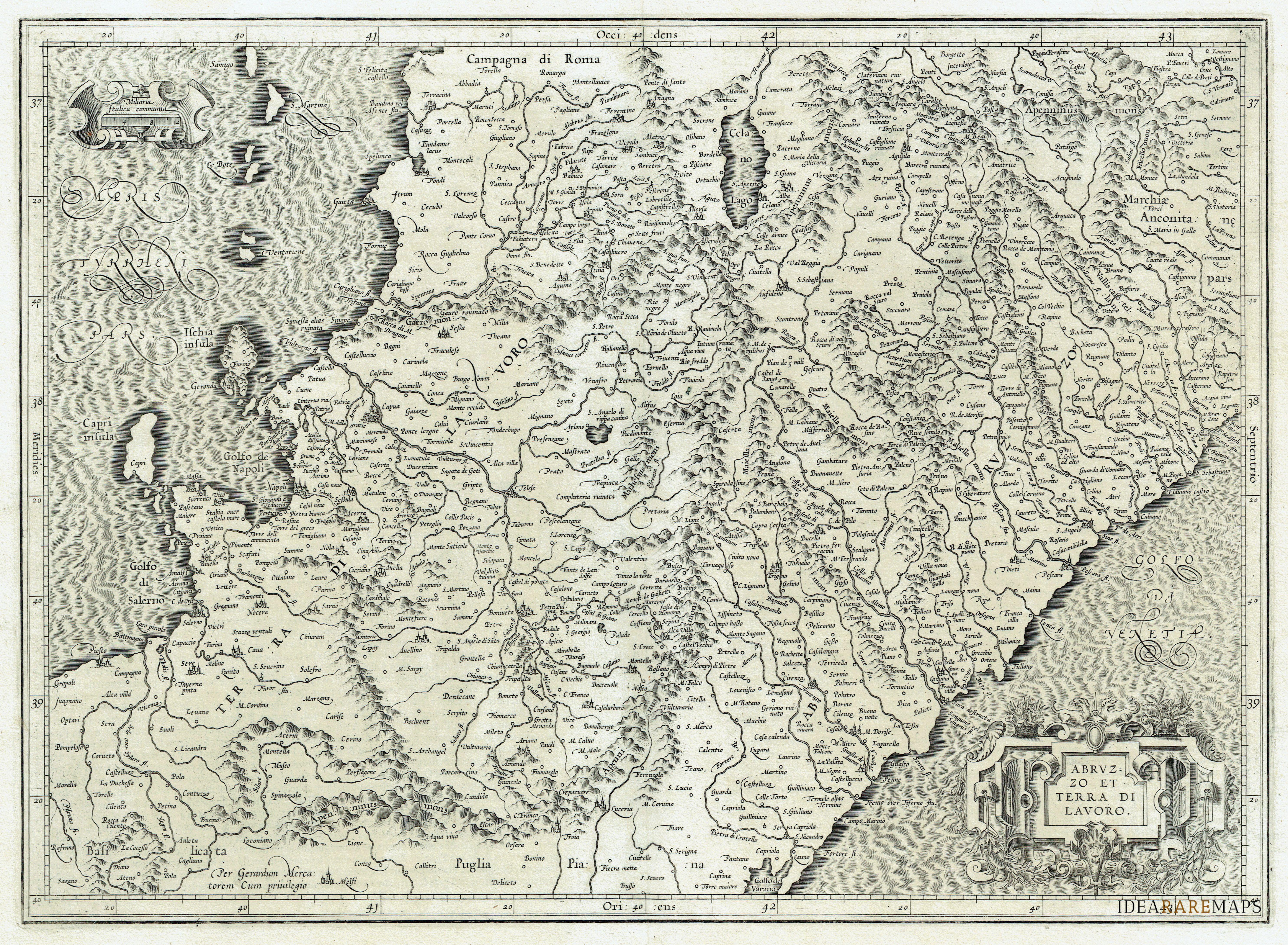 Picture of: Abruzzo Molise Archivi Idea Rare Maps