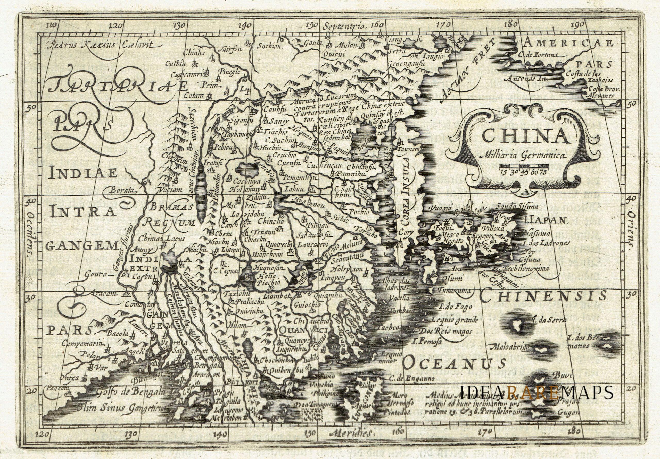 Cartina Geografica Della Cina.Carta Geografica Antica Della Cina China Idea Rare Maps