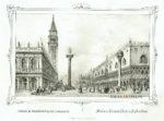 Venezia San Marco veduta litografia