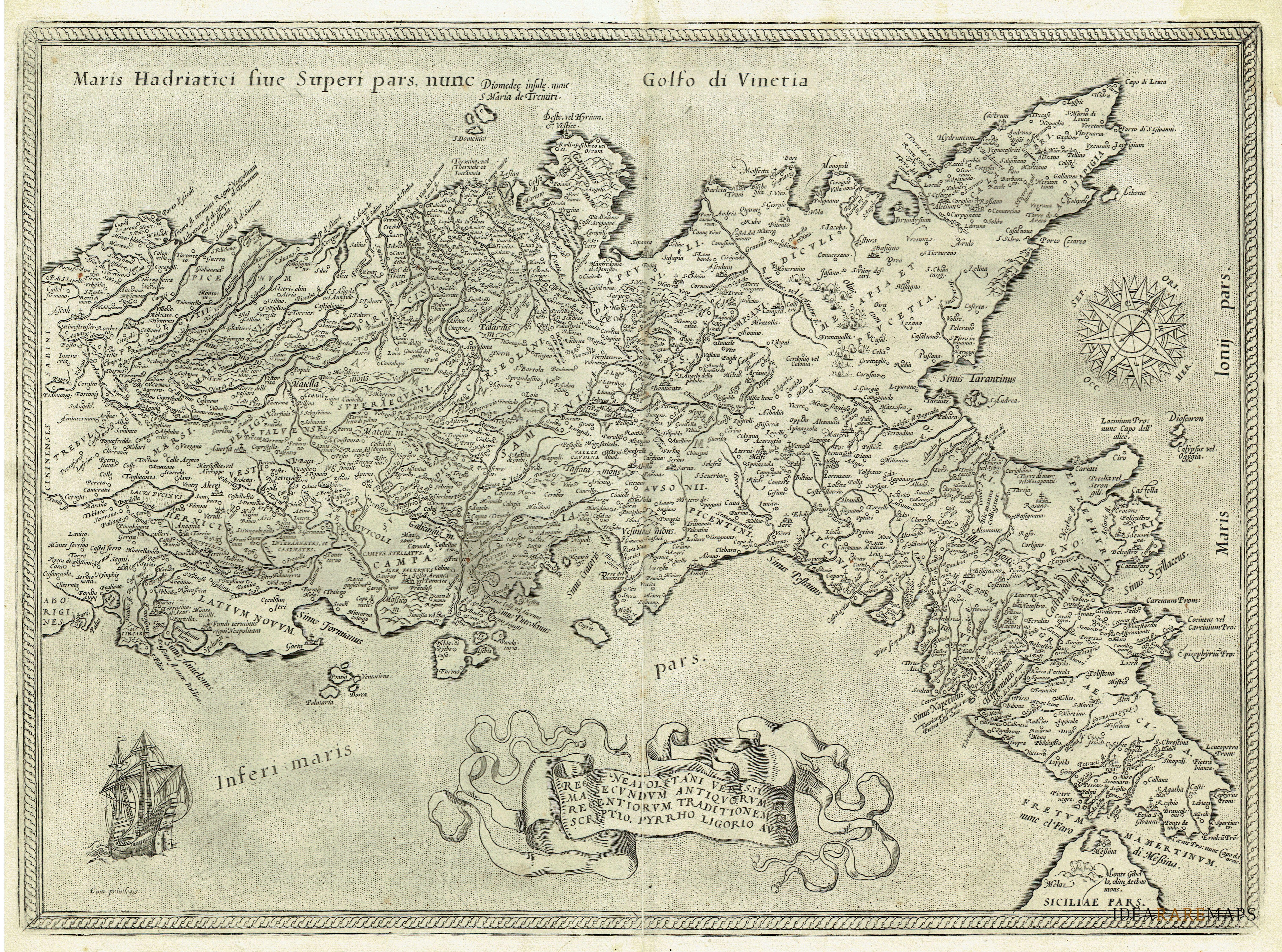 Mappa Napoli Puglia.Antiche Carte Della Campania E Calabria Idea Rare Maps