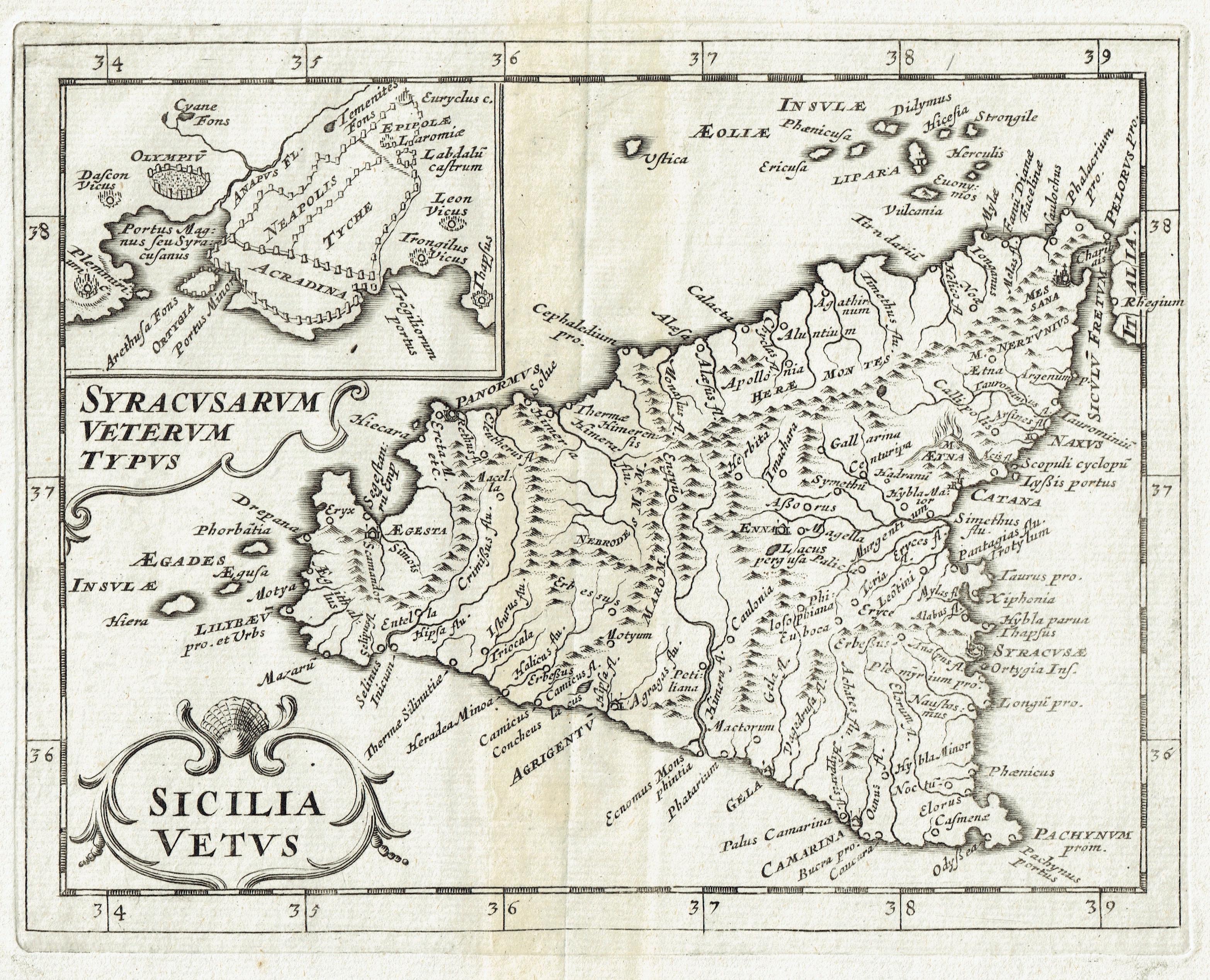 Cartina Sicilia Antica.Antica Carta Geografica Della Sicilia Idea Rare Maps