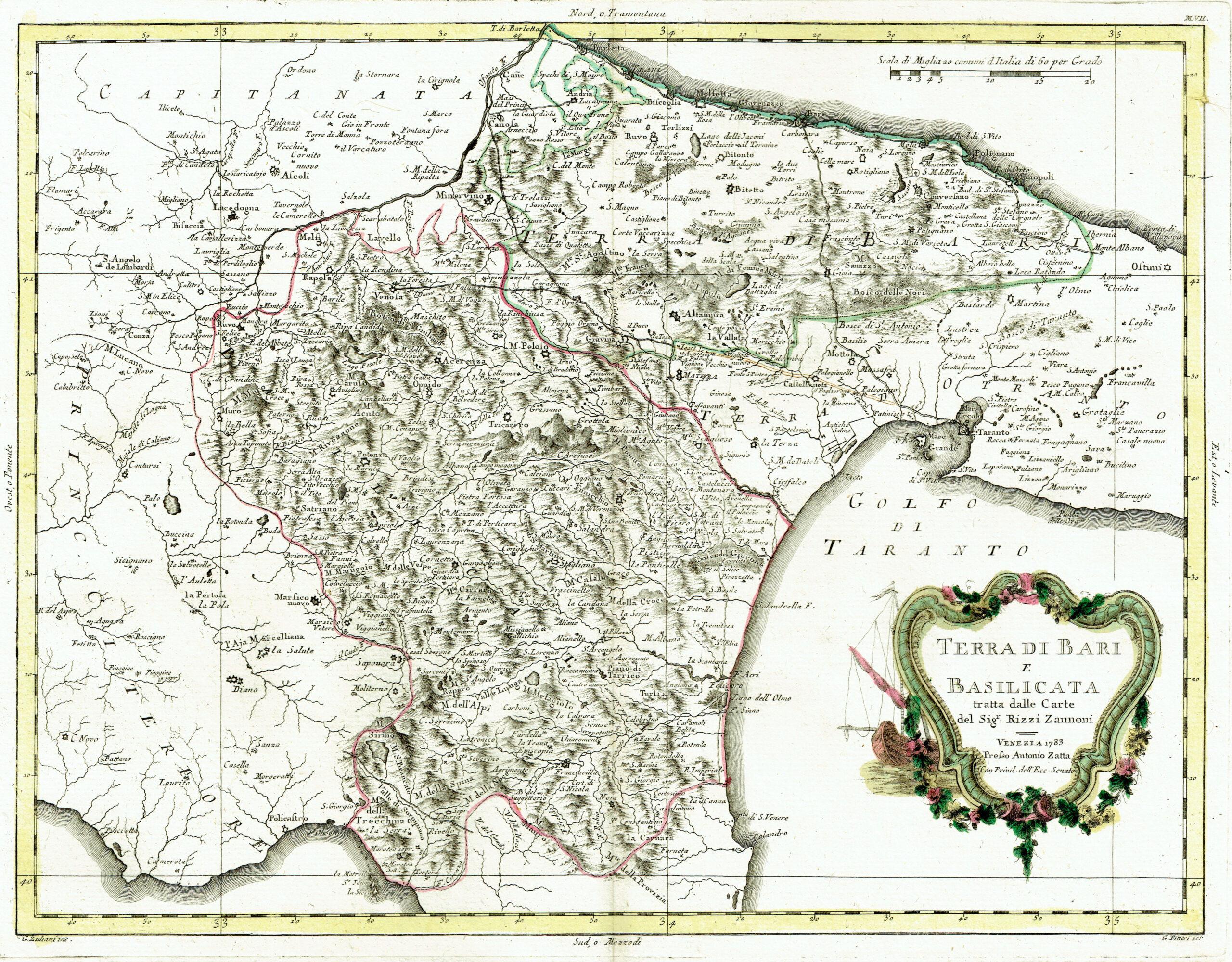 Cartina Di Malta Da Stampare.Antica Mappa Della Puglia E Basilicata Idea Rare Maps