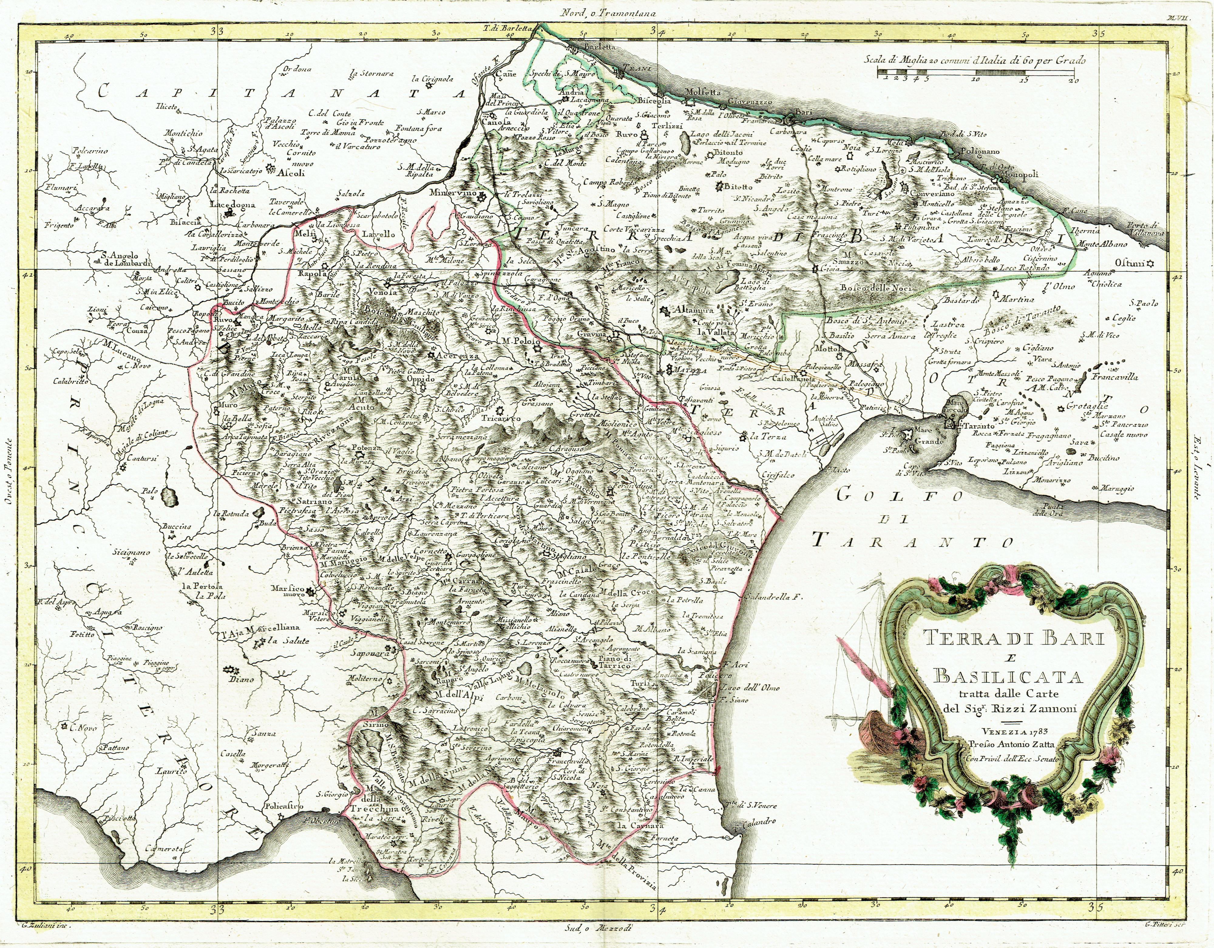 Mappa Nautica Puglia.Antica Mappa Della Puglia E Basilicata Idea Rare Maps
