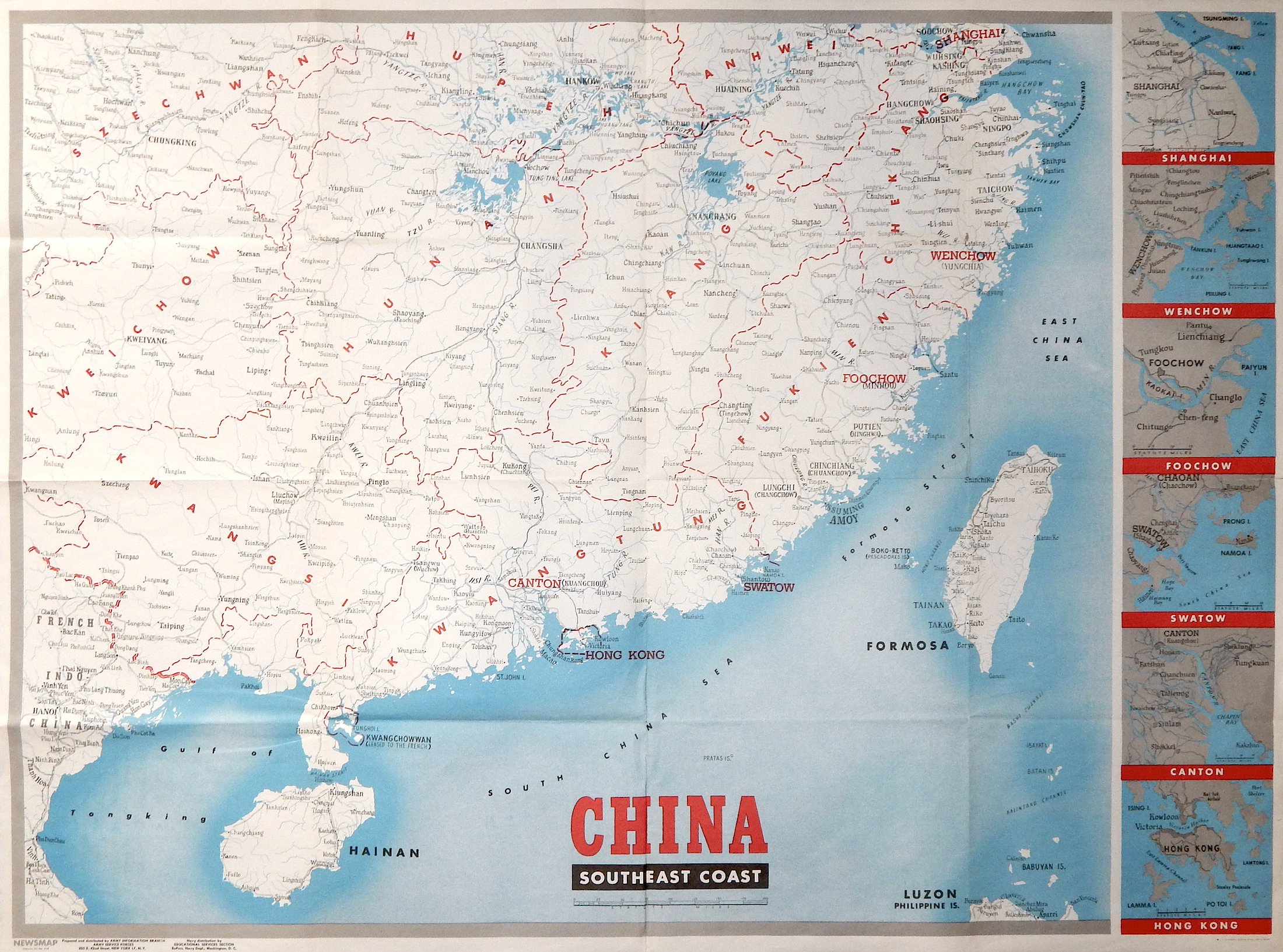 cina southeast coast