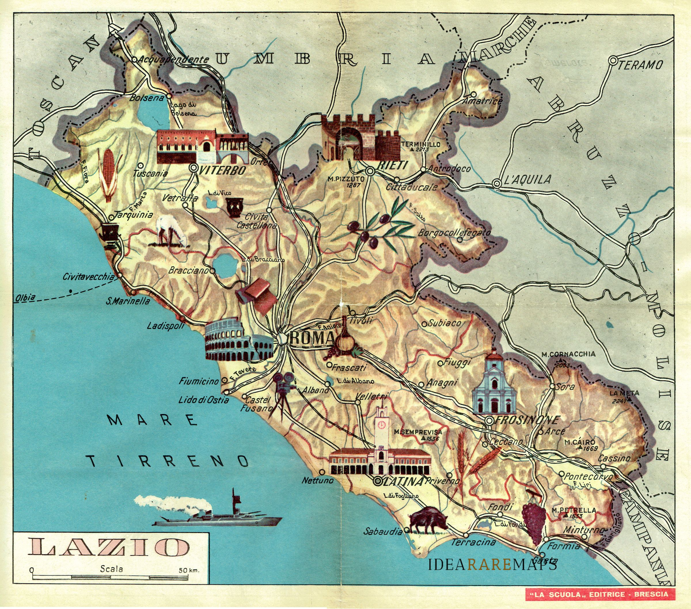 Il Lazio Cartina Geografica.Lazio Archivi Idea Rare Maps