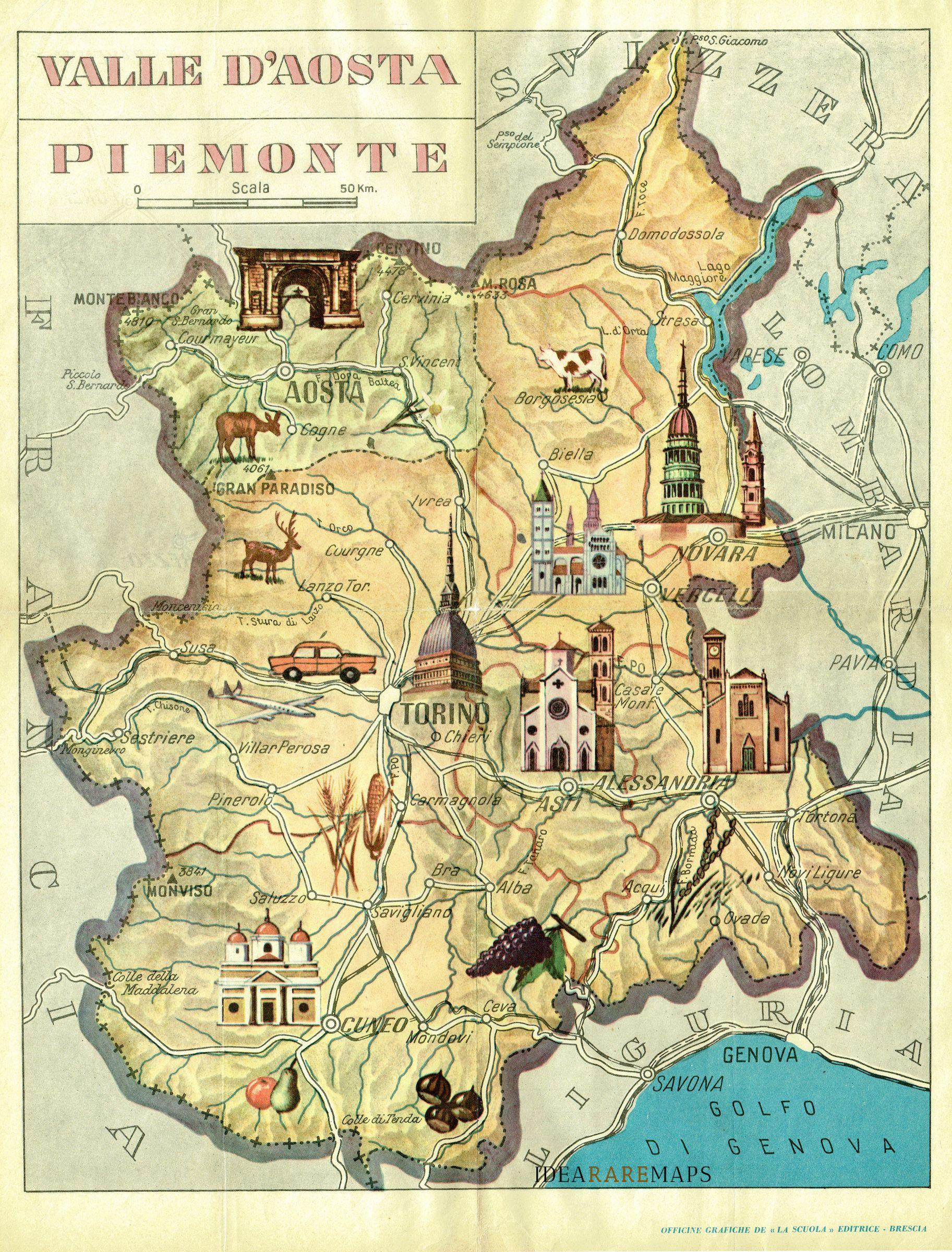 Cartina Stradale Piemonte E Liguria