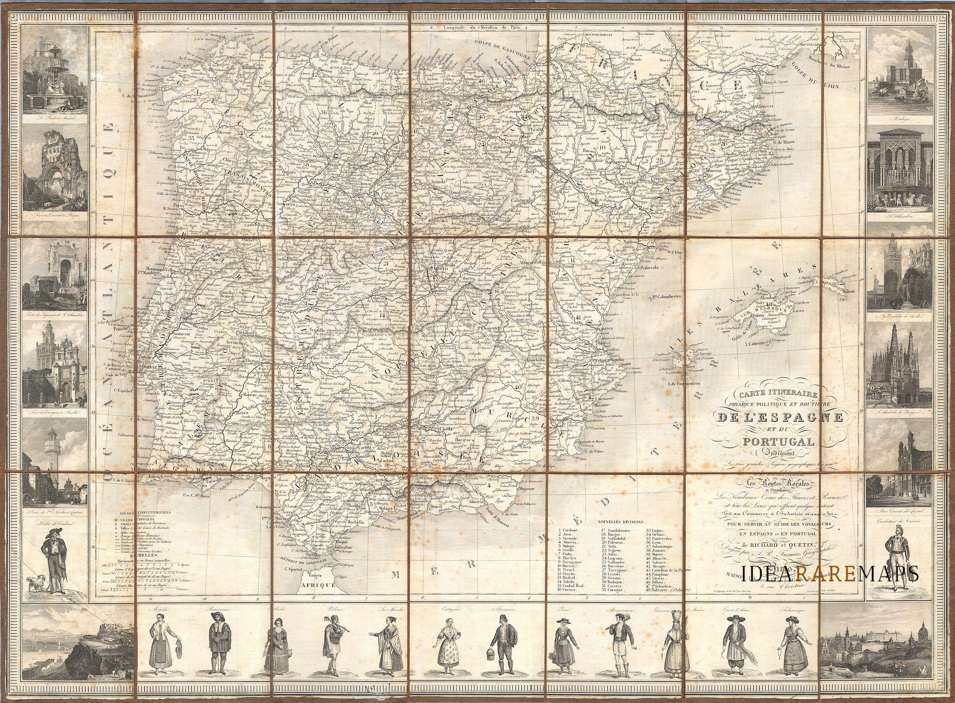 Cartina Muta Della Spagna E Del Portogallo.Spagna E Portogallo Archivi Idea Rare Maps