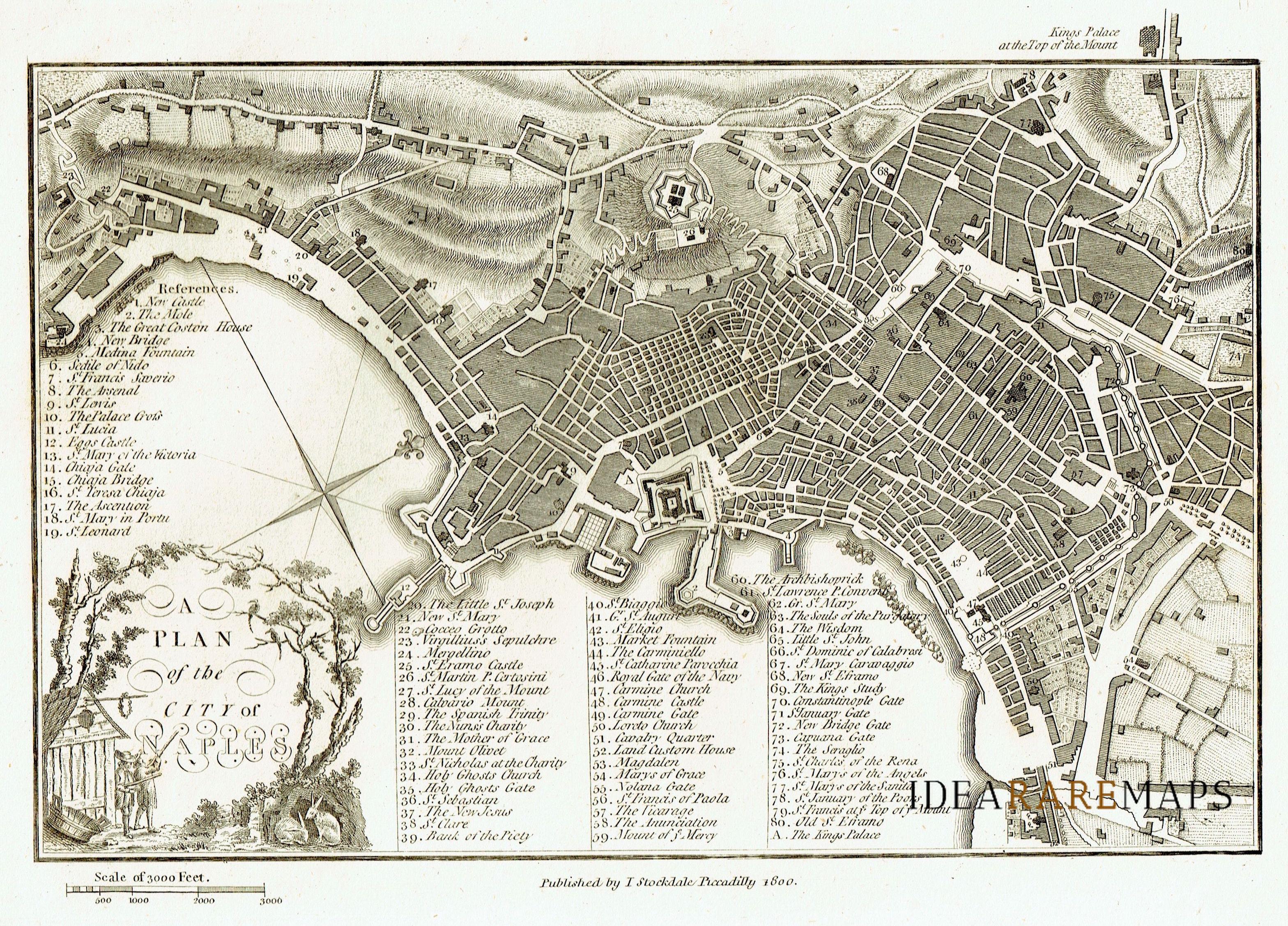 Cartina Stradale Di Napoli Citta.Antiche Carte Della Campania E Calabria Idea Rare Maps