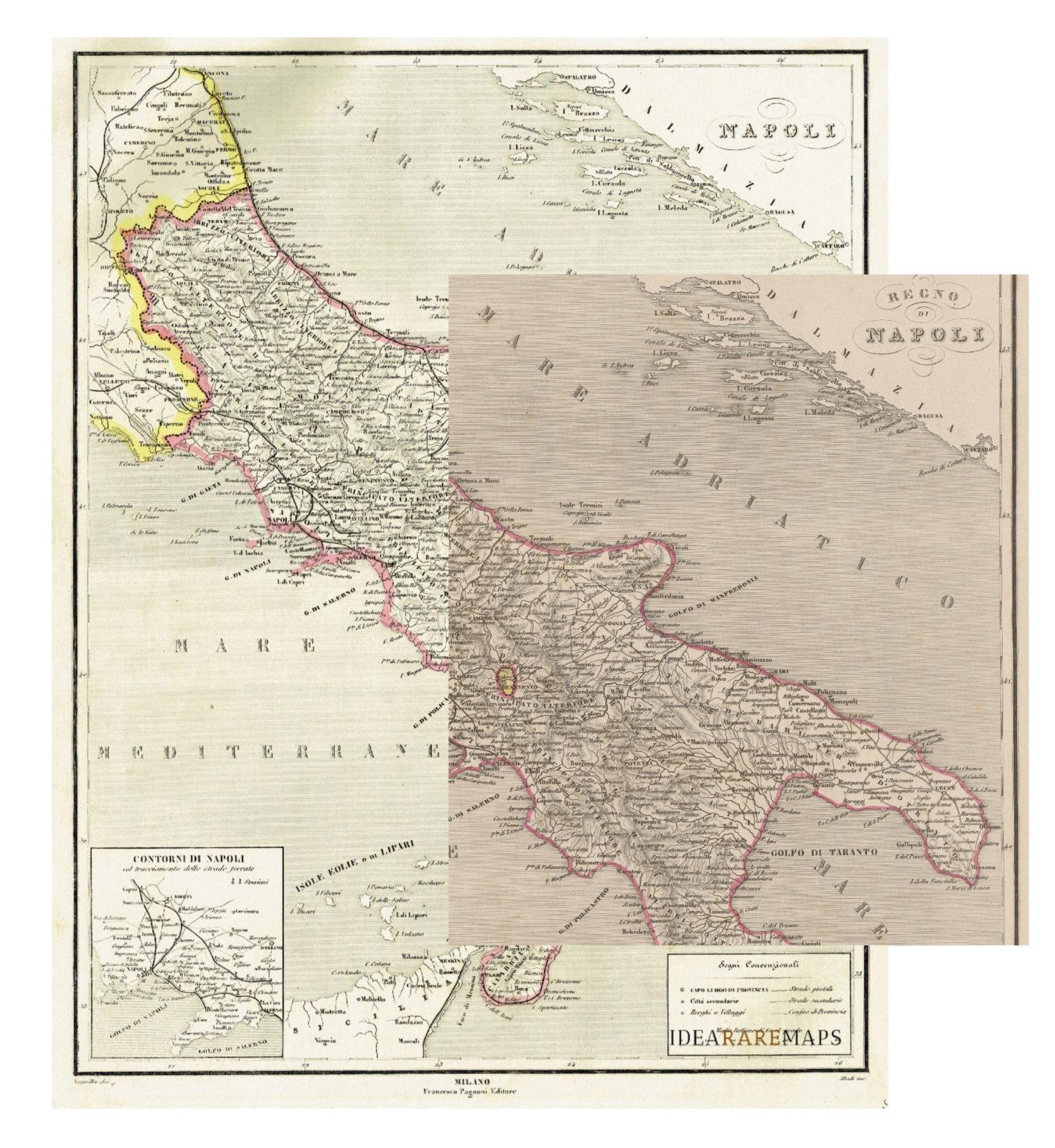Antica carta del Regno di Napoli