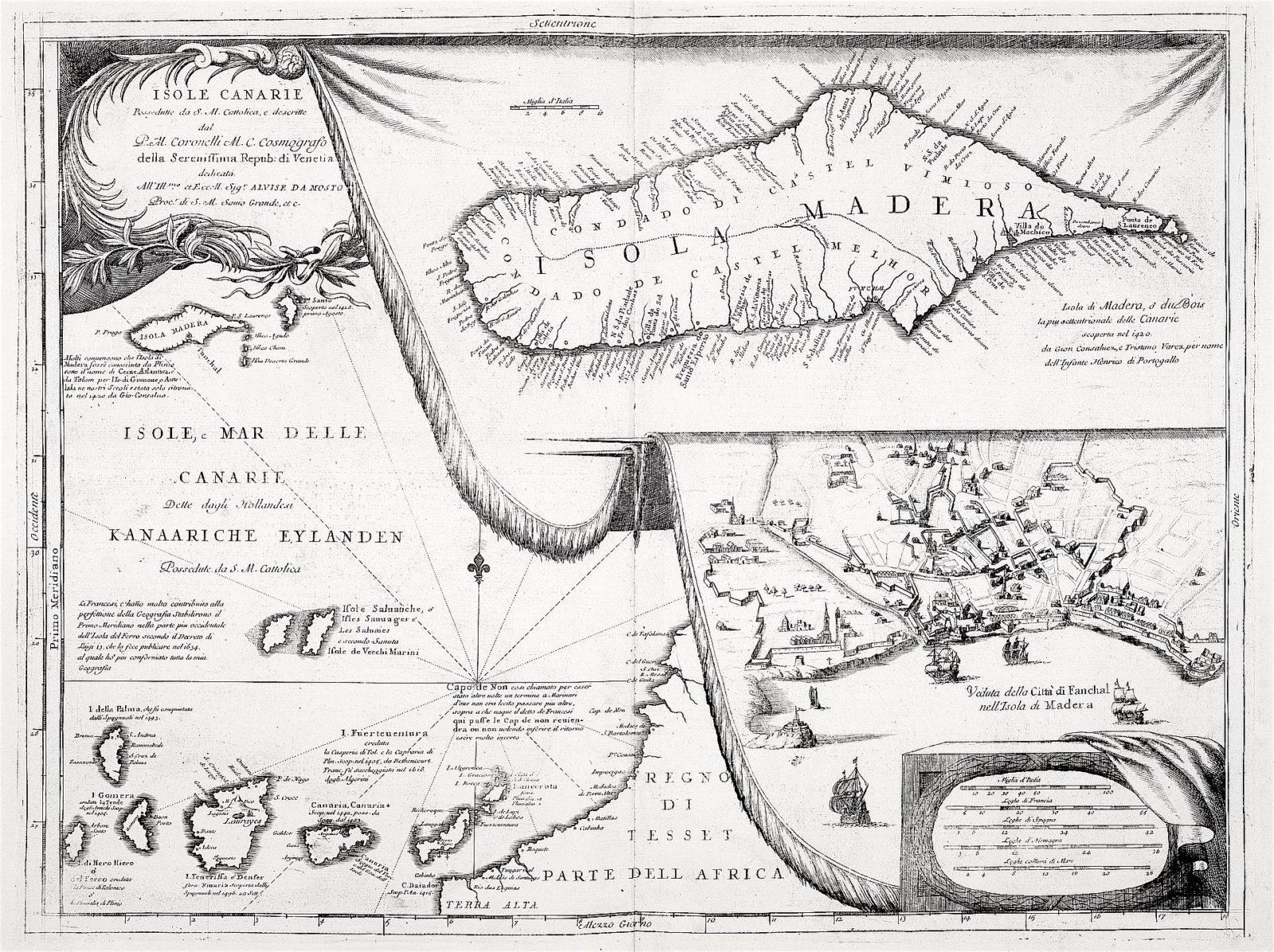 carta geografica canarie