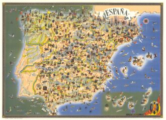 Cartina Geografica Spagna E Formentera.Antica Mappa Delle Baleari Spagna Isole Di Majorca D Ivica E Formentera Idea Rare Maps