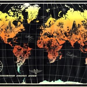 Scandinavian Airlines System World Map