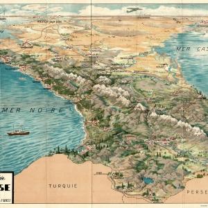 Carte Illustrée du Caucase editée par Societe de Voyages de Urss
